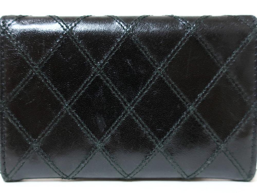 シャネル ビコローレ マトラッセ ココマーク レザー カードケース ブラック 外側ダメージ01