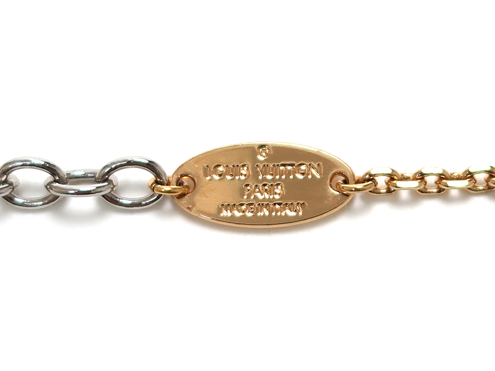 ルイヴィトン ロゴマニア ネックレス M68074 刻印01