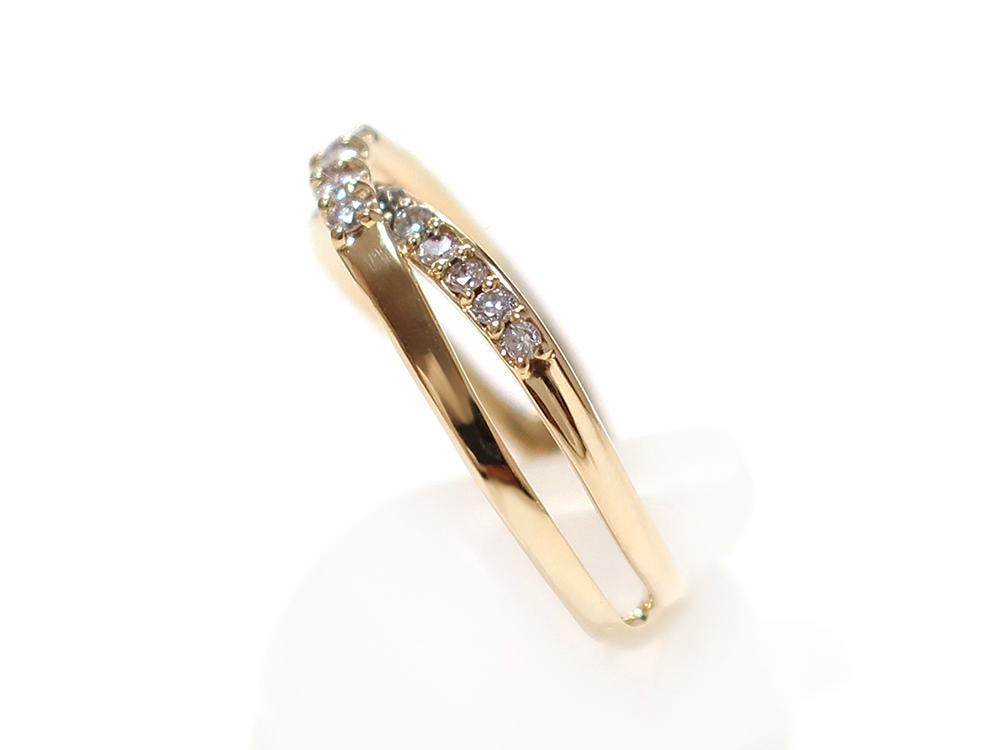 ジュエリー イエローゴールド ダイヤモンド リング ダイヤ0.30ct 側面01