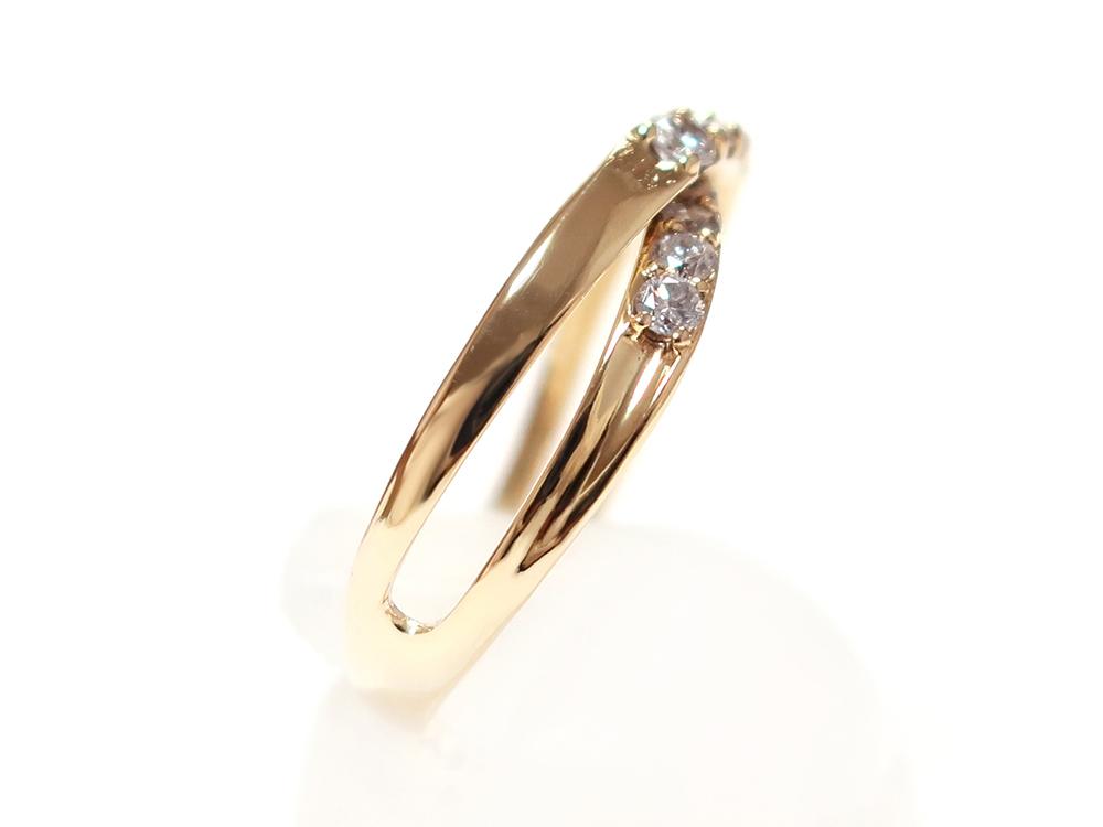 ジュエリー イエローゴールド ダイヤモンド リング ダイヤ0.30ct 側面02