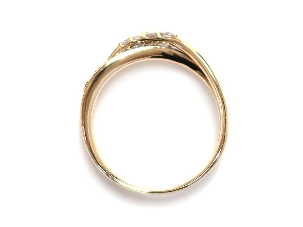 ジュエリー イエローゴールド ダイヤモンド リング ダイヤ0.30ct 上面